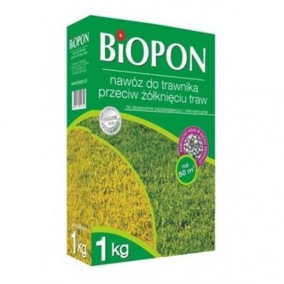 Biopon - granulowany nawóz do trawnika przeciw żółknięciu 1 kg