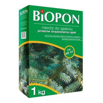Biopon - granulowany nawóz do iglaków przeciw brązowieniu igieł 1 kg